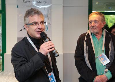 Sous le regard ému de Denis Lalanne, Christophe Penot salue la naissance d'un prix qui veut célébrer l'information, l'écriture et le talent, si liés à Roland-Garros. Ce qui est saluer aussi la FFT, première fédération française à militer ouvertement pour la défense de la presse écrite et pour la francophonie.