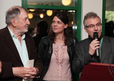 La belle complicité entre Denis Lalanne et Sophie Alexandre. Une complicité sous les couleurs de la francophonie, comme le rappelle Christophe Penot au nom de l'organisation du Prix.