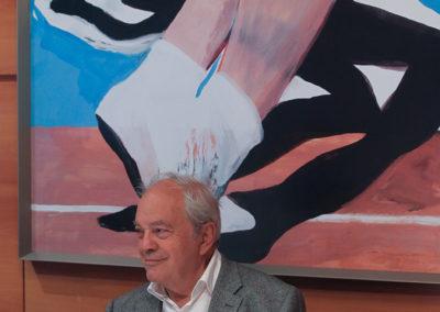 """Spectateur et patient acteur. Jean Couvercelle, directeur fondateur de """"Tennis Magazine"""", attend son heure pour monter au filet !"""