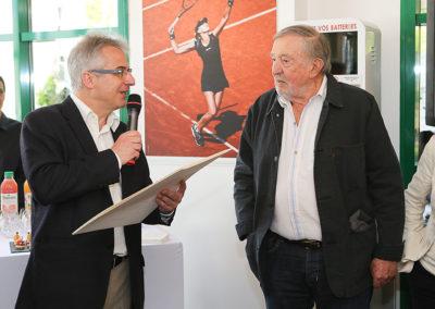 « Merci, cher Denis, de nous offrir ton nom pour cette si belle aventure. » L'amical salut de Christophe Penot, auquel s'associe bien sûr la Fédération Française de Tennis.