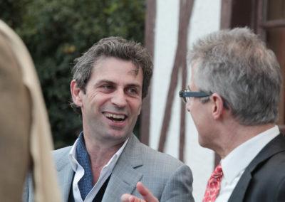 Homme de radio et de télévision, Frédéric Taddeï a été appelé à présider le jury du 2e Prix Denis-Lalanne. Il est accueilli par Christophe Penot, l'organisateur.