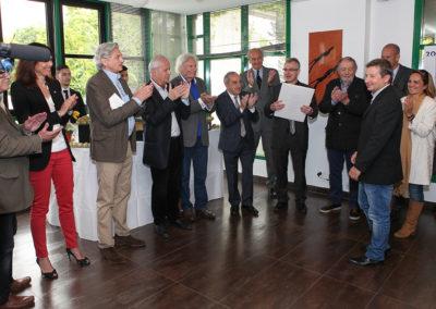 Cyrille Poméro justement applaudi par l'ensemble du jury. Il va être honoré devant ses confrères réunis au Bar de la presse, dans l'enceinte du court Philippe-Chatrier.