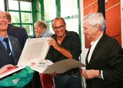 L'exceptionnelle présence de Vladimir Veličković. Un bonheur que David Loriot partage avec Stephan Post.