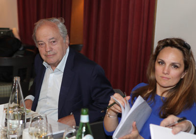 """Deux invités ès qualités qui sont aussi deux figures de la presse. Est-il besoin de rappeler que Jean Couvercelle est le prestigieux directeur fondateur de """"Tennis Magazine"""", tandis que Géraldine Pons fait les beaux jours d'""""Eurosport""""."""