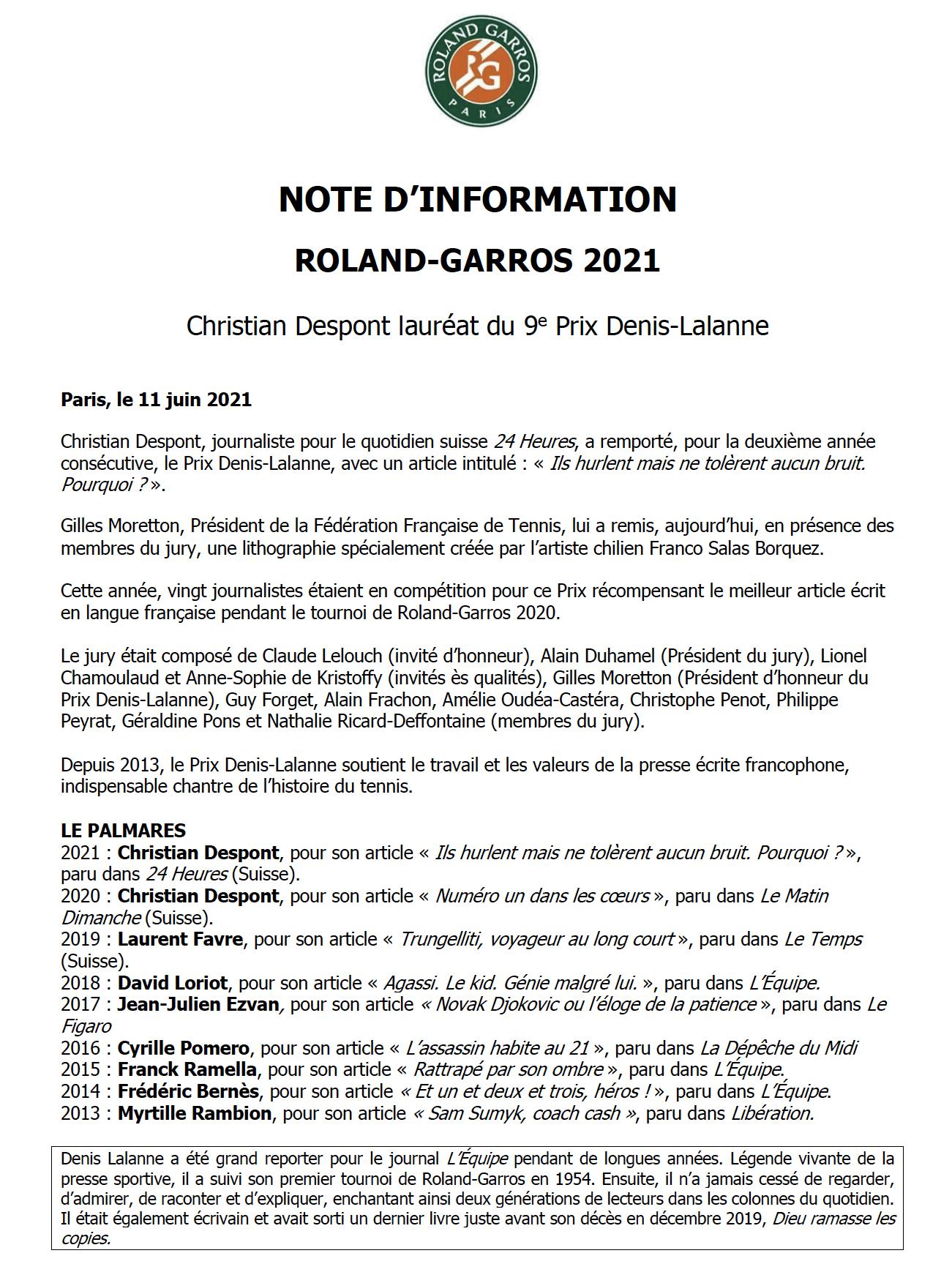 FFT 9e Prix Denis-Lalanne