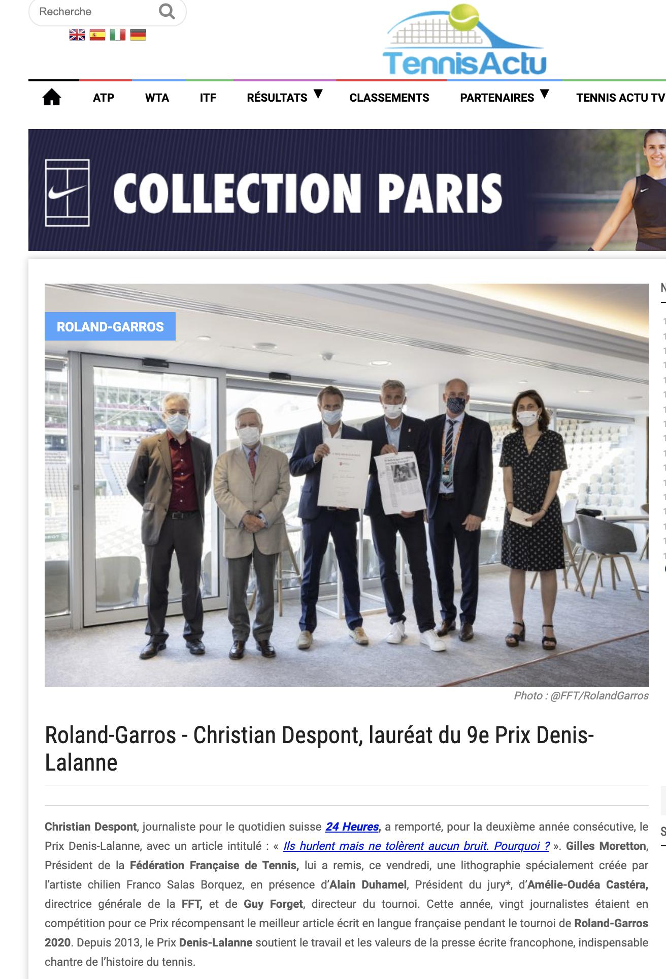 Tennis Actu - 9e Prix Denis-Lalanne